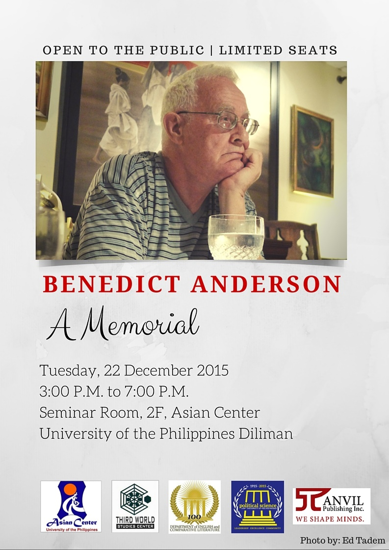 Benedict Anderson - A Memorial