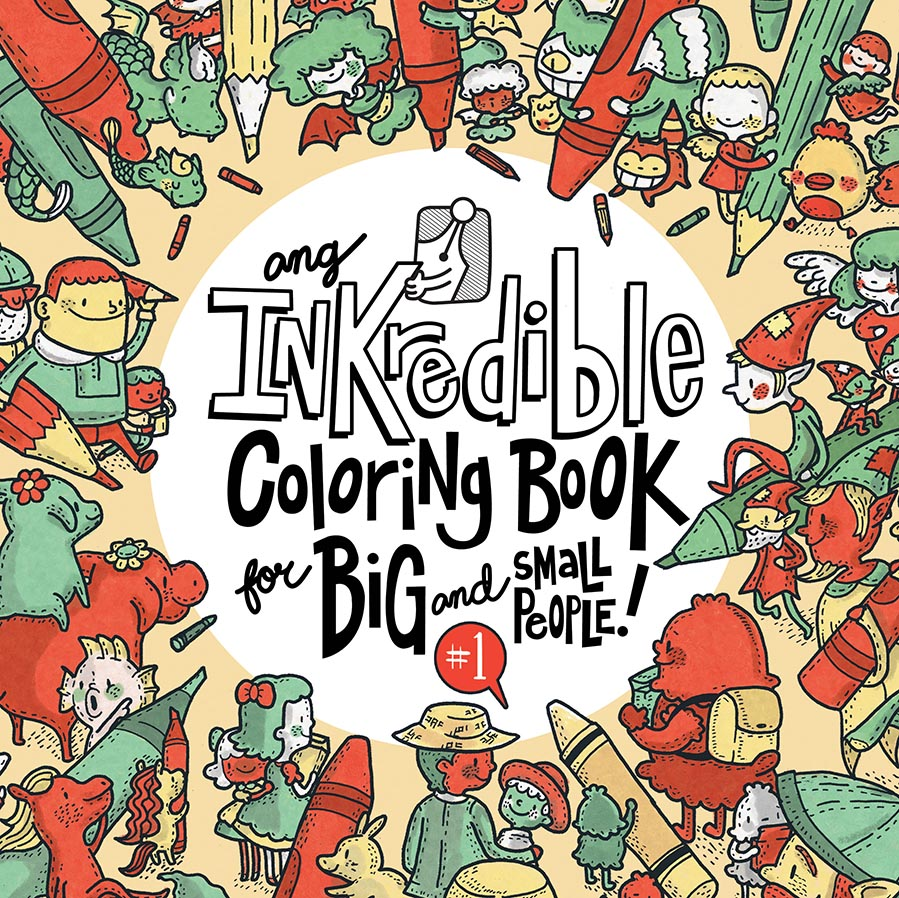 2015 1116_inkredible coloring book1_cover - Publishing A Coloring Book